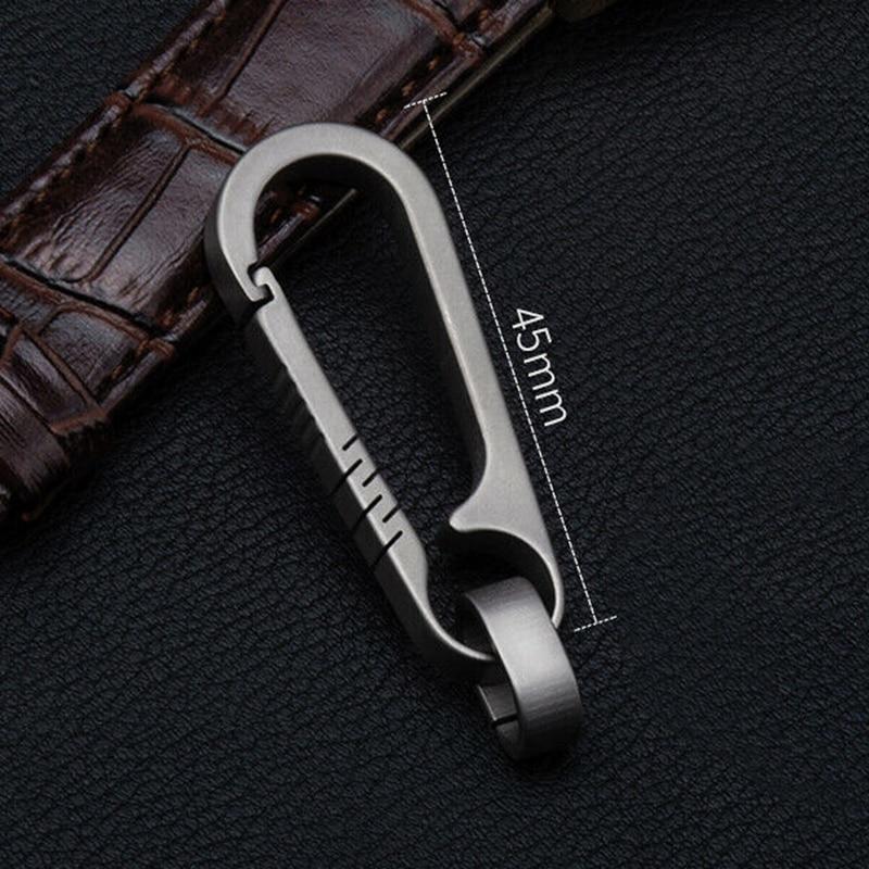Мужские титановые пряжки 55 мм, уличный инструмент, титановый сплав, брелок, титановая пряжка, кольцо для ключей, автомобильные аксессуары