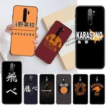 NBDRUICAI أنيمي Haikyuu Karasuno شعار لينة سيليكون الأسود جراب هاتف ل Redmi نوت 8 8A 8T 7 6 6A 5 5A 4 4X 4A الذهاب برو