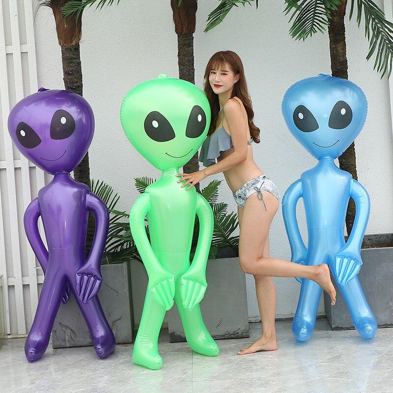 90cm/170cm Alien juguetes para niños amigable PVC inflable ECALIEN muñeca Halloween Bar ornamentos modelo cumpleaños fiesta Props Decoración