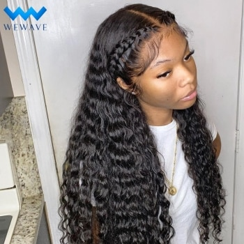 Deep Wave Frontal Wig 30 32 Inch Curly Human Hair Wigs For Black Women Pre Plucked Wigs Wet And Wavy 13x4 Water Wave Hd Lace Wig
