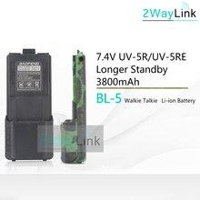 Hot BL-5 Batterij 3800 Mah Baofeng Uv-5r Batterij Voor DM-5R Plus Uv 5R Uv5r UV-5RE 5RE Compatibel Met RT-5R RT5R 1800 Mah Optioneel