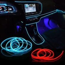 Auto Neon LED Licht Innen Beleuchtung Girlande Draht EL Draht Seil Rohr Umgebungs LED Streifen Dekoration Flexible Rohr Farben Auto led