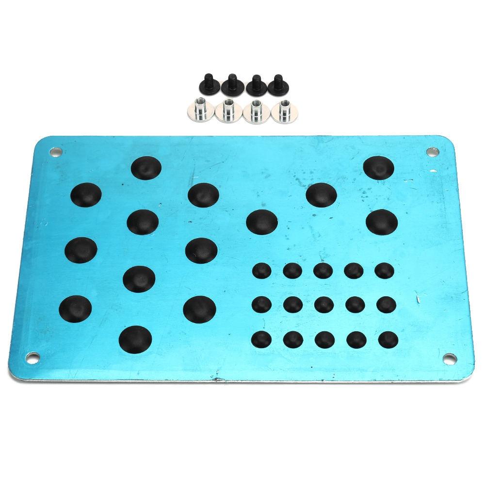1PC Universal Silver Car Floor Mat Foot Heel Scuff Plate Non-slip Carpet Patch Automobile Alloy Wear Plate Anti-skid Pad