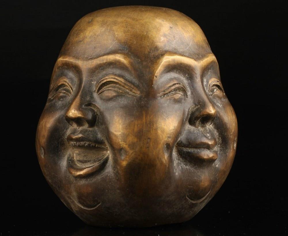 Antigua coleccionable fundición de bronce de las alegrías y penas espiritual cuatro...