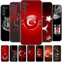 turkish flag phone cover hull for samsung galaxy s8 s9 s10e s20 s21 s5 s30 plus s20 fe 5g lite ultra black soft case