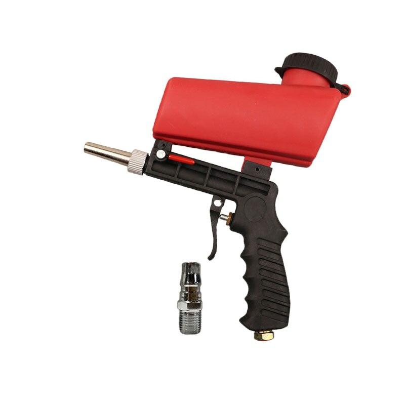 Красный Регулируемый Пескоструйный пистолет 90psi, Портативный Пескоструйный Аппарат, Гравитационный маленький ручной пневматический пистолет-распылитель, набор