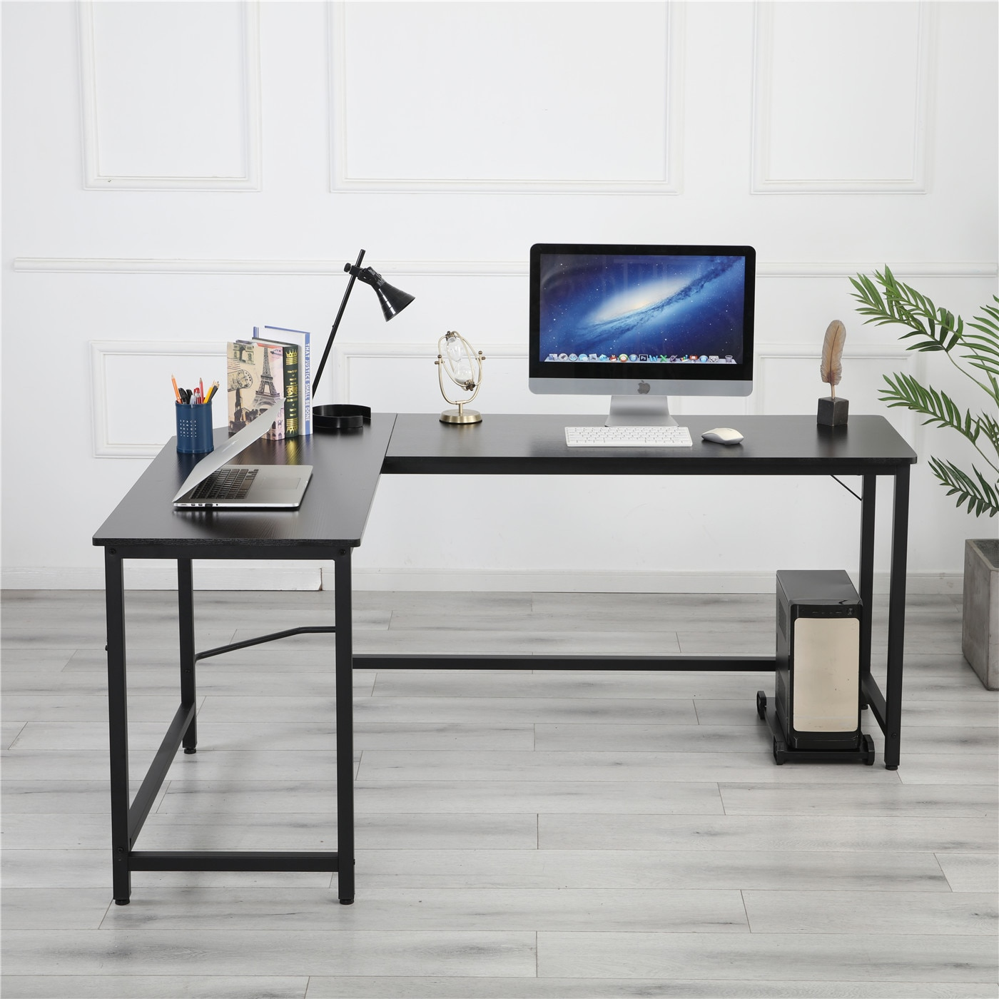 Фото - L-Shaped Desktop Computer Desk Study/Office Table Corner Table Easy to Assemble Can Be Used in home and office Pure Black[US-W] michael mandelbaum that used to be us