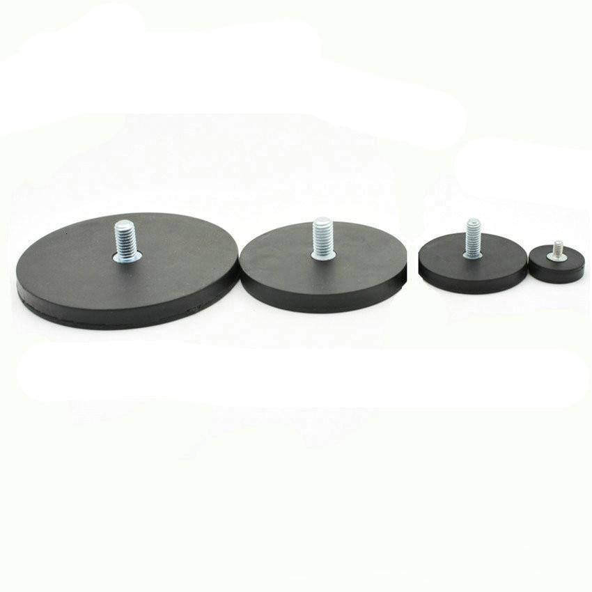 Магнитный Диск в резиновом диаметре. 22/43/66/88 мм резьбовой светодиодный светильник держатель Точечный светильник мощный магнит NdFeB Свадебный...