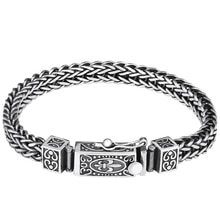Pure Silver Handmade Sterling 925 Silver Bracelet Men's Vintage Thai Silver Original Personalized S925 Bracelet