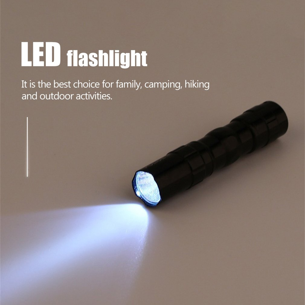 Portable LED Flashlight Waterproof Battery For Camping Working Light Travel Hiking 3W Ultra Bright T