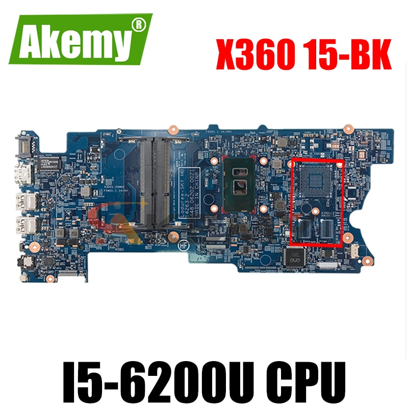 ل HP X360 15-BK 15-W 15T-W M6-W اللوحة المحمول مع SR2EY i5-6200u 811095-601 811095-501 448.06202.0021 MB 100% اختبار