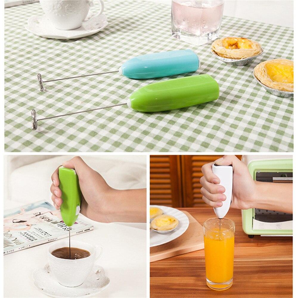 1 Mini mezclador manual de huevos, café, cocina casera, mezcla eléctrica de mano, utensilio de cocina de Mezclador de alimentos útil para uso diario
