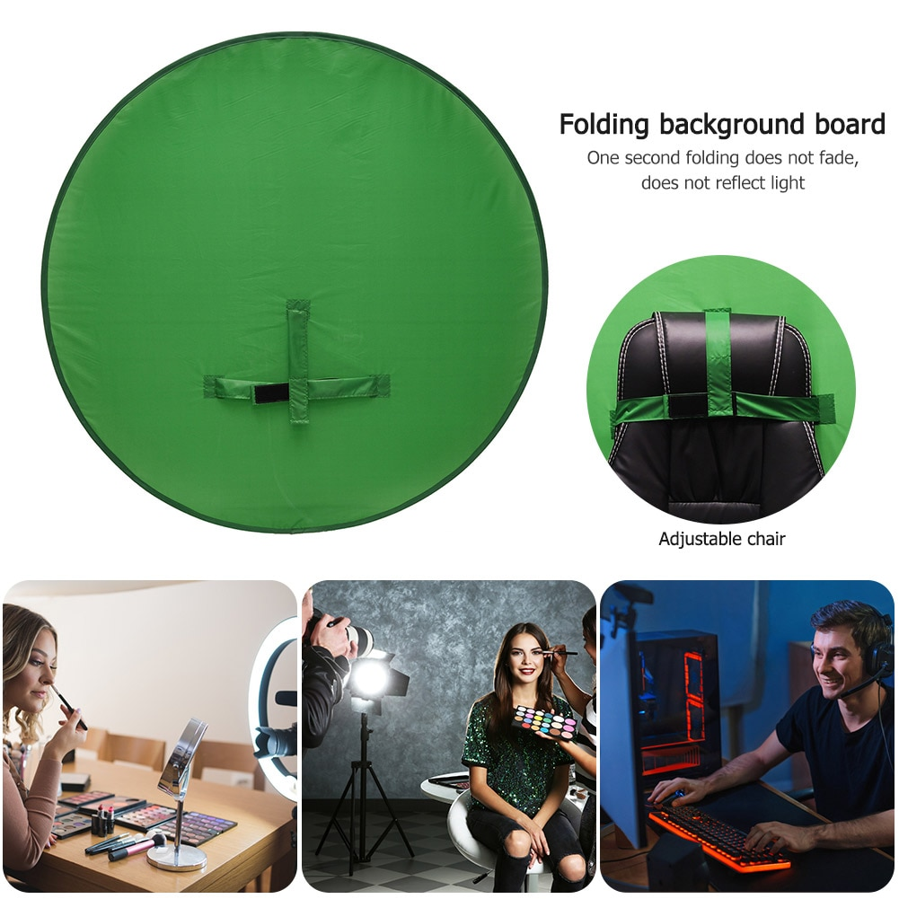 Green Screen Backdrop Photography Background Foldable Reflector for Live Video Studio Folding Reflector Backdrop enlarge