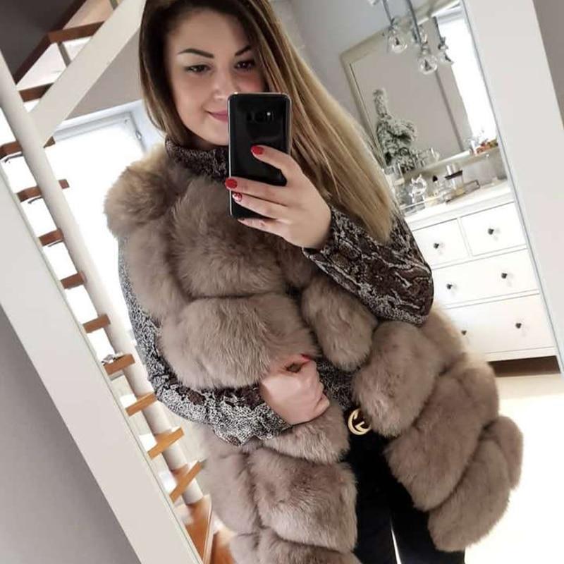 Natural Real Fox Fur Vest Jacket Waistcoat Sleeveless Vest Women Winter Warm Natural Top Quality Real Fur Jacket Fox Fur Coats