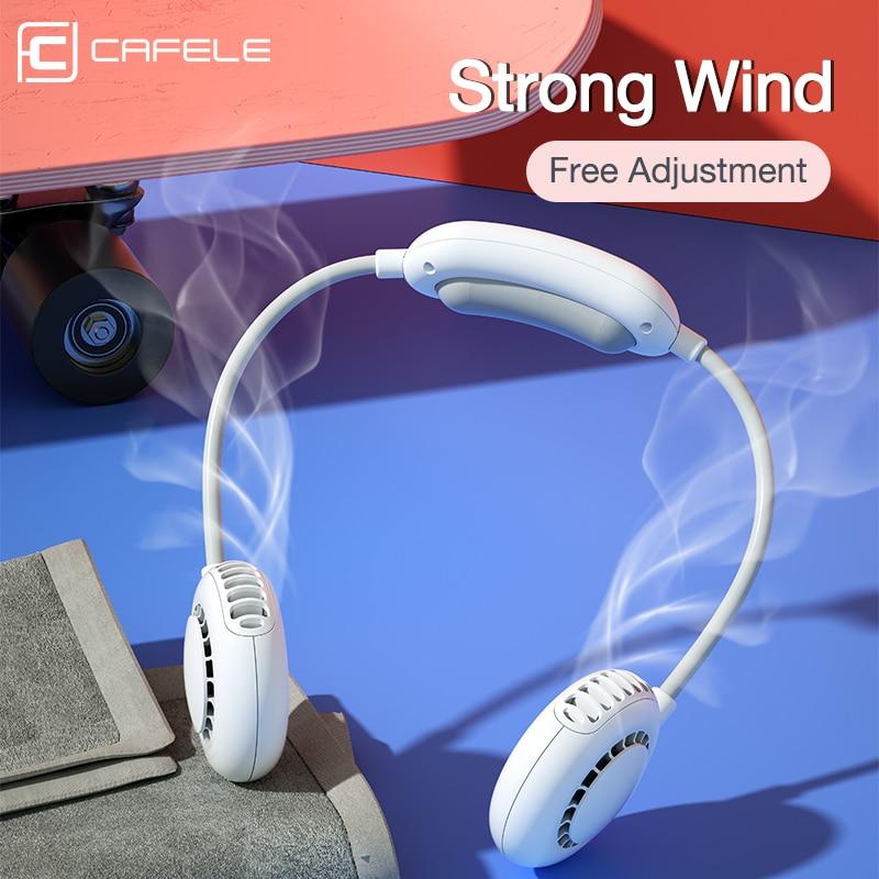 Nuevo ventilador Personal de Manos libres, ventilador portátil, batería USB recargable, banda para el cuello, diseño de auriculares, miniventilador portátil, ventilador enfriador