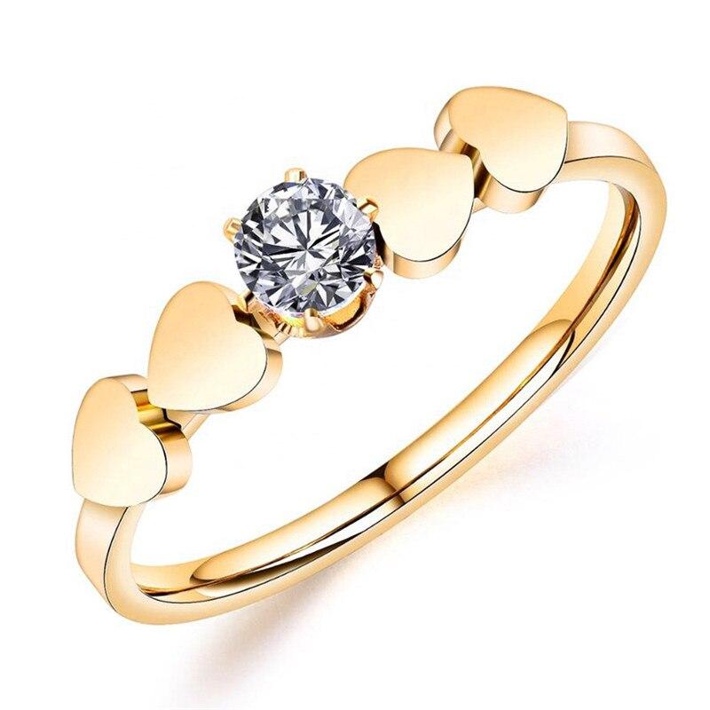 2020 europeu e americano nova moda jóias amor zircon feminino anel de cristal de swarovskis aço inoxidável ajuste feminino