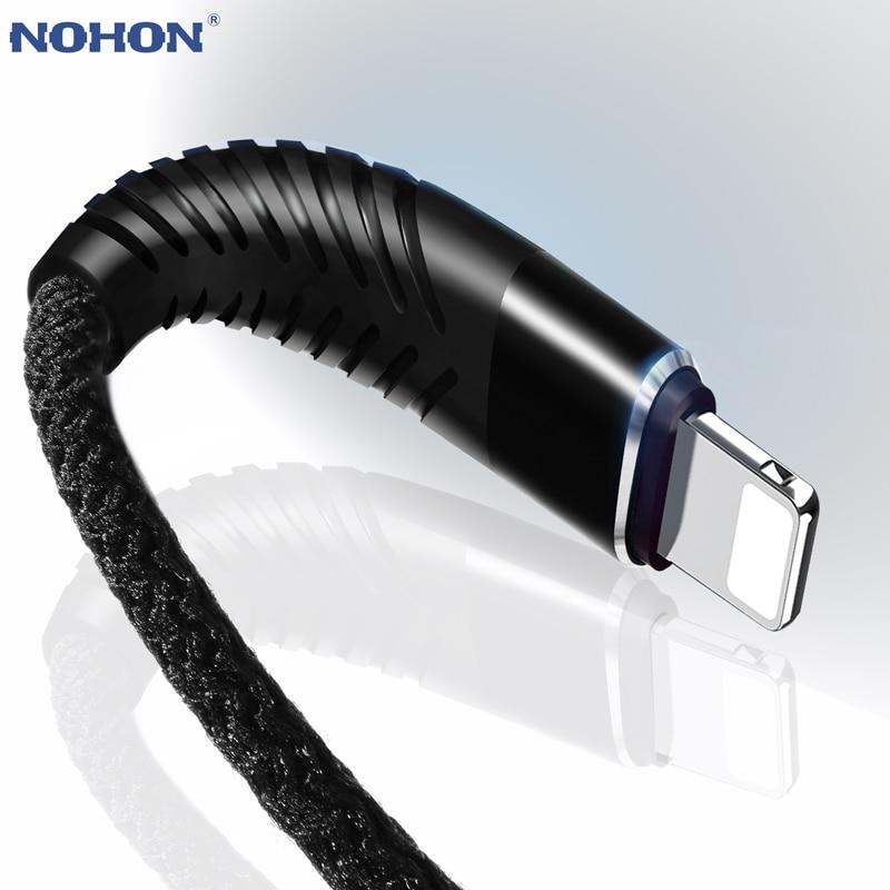 NOHON 3M 2M 1M USB Kabel Für iPhone 8X7 6 6S Plus 5 5S 5C SE iOS 10 9 8 iPad Schnelle Lade Hohe Zug-8pin Daten Sync Draht