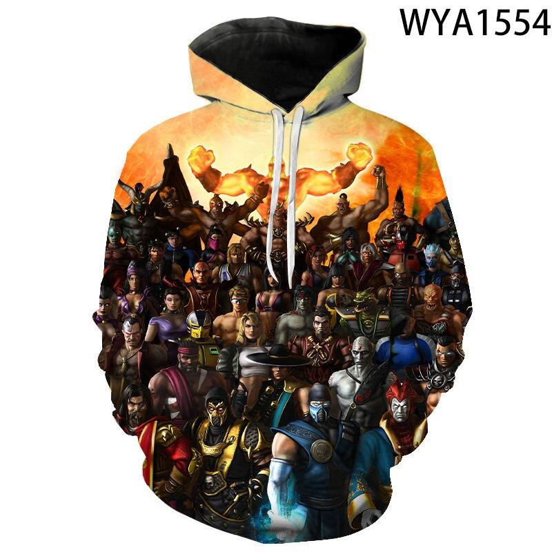 2020 nova 3d impresso hoodies legal jogo mortal kombat casuais das mulheres dos homens crianças camisolas com capuz moda pulôver vestuário casaco