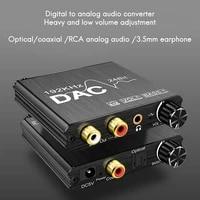 Convertisseur Audio numerique-analogique 192KHz avec basse et reglage du Volume pour PS3 PS4 DVD Apple TV Home cinema
