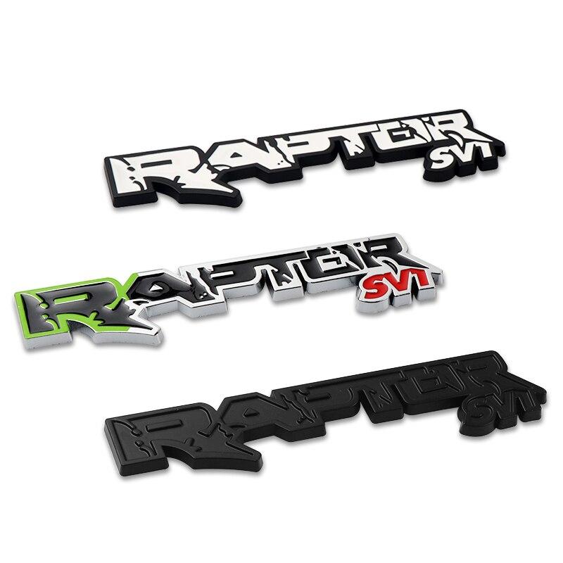 Nova liga de metal raptor svt emblema estilo do carro adesivo decoração para ford f150 fiesta suv mustang ranger galaxy acessórios do carro