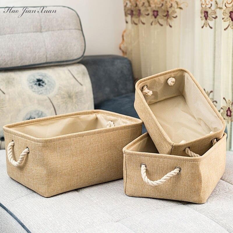 جديد سلة التخزين للطي طوي صندوق تخزين الكتان صناديق النسيج المنظم تنظيم مكتب خزانة ملابس لغرفة النوم اللعب سلة الغسيل