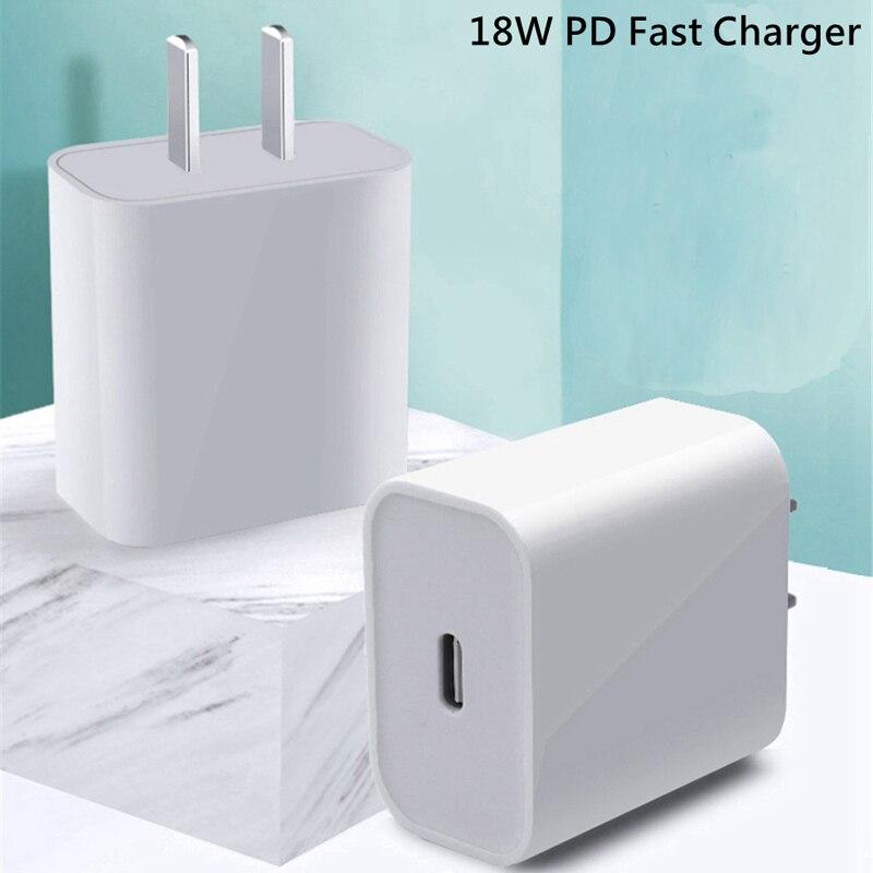 18 Вт PD USB Type C быстрое зарядное устройство адаптер для iPhone 11 Pro XR X Xs Max 8 Быстрая зарядка EU US UK AU вилка путешествия PD зарядное устройство Порт