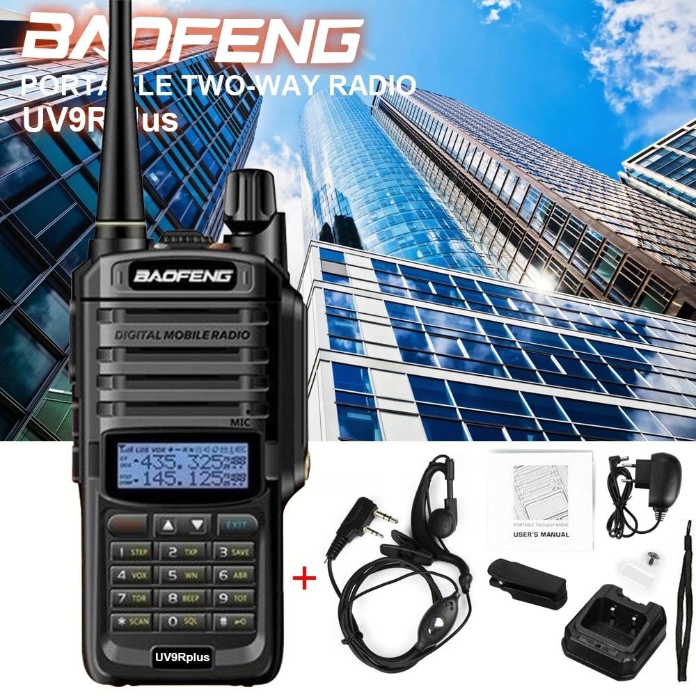 Портативная рация Baofeng UV-9R Plus 5 Вт 1800 мАч IP67 водонепроницаемая рация портативная Двухдиапазонная портативная Двусторонняя Беспроводная