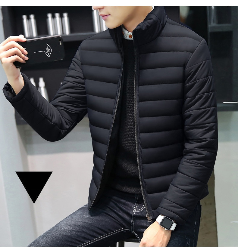 MRMT 2020 Brand Autumn Winter New Men's Jackets Collar Thickened Overcoat for Male Down Cotton Clothes Jacket Clothing Garment