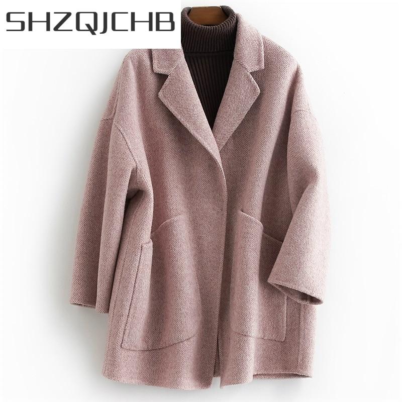 JCGB-Abrigos largos de lana para Mujer, chaquetas de Alpaca para primavera y...