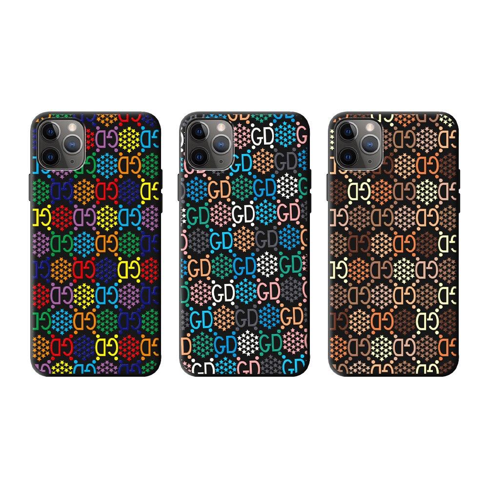 Funda suave de marca de lujo para iphone 11 pro x xs max xr 8 7 plus SE 2 funda mate de silicona para teléfono móvil 3D relieve moda coque capa
