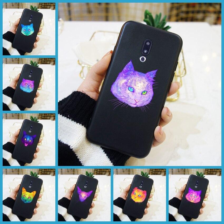 Funda suave de silicona para teléfono Meizu 16th 16x15 Lite 16 Plus, funda trasera de gato púrpura para Meizu U10 U20 Pro 6 7 Plus