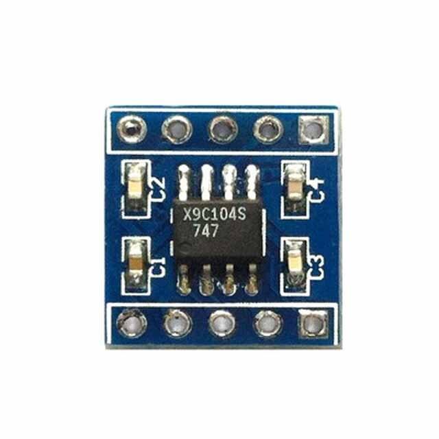 Módulo de potenciómetro digital x9c104, orden 100, potenciómetro digital, sensor de equilibrio de puente ajustable
