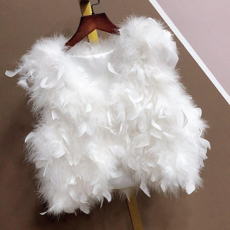 Меховой женский короткий жилет Popodion, теплые жилеты CHD20335