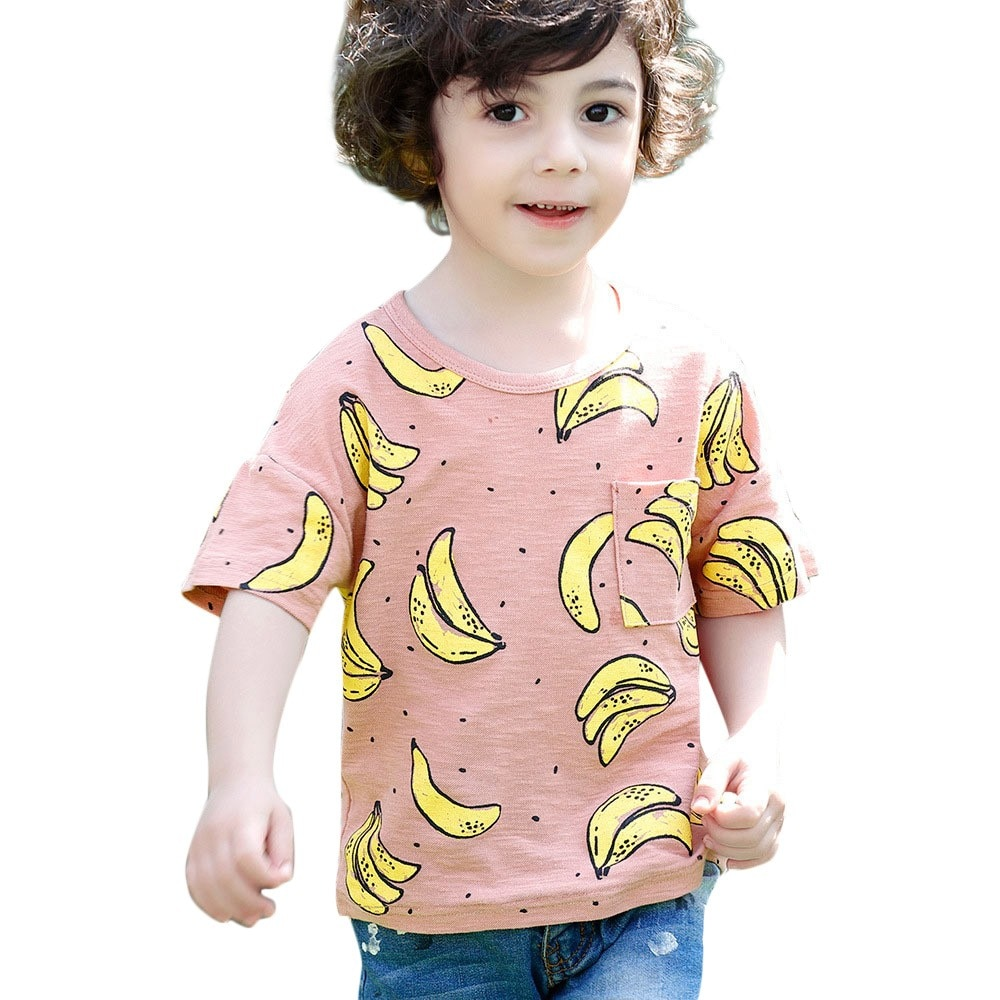 2020 New Baby Boys T Shirt Casual Kids Tshirt Summer Tops Cartoon Animal Printed Tees Cute Children Clothing Toddler T Shirts