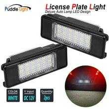 2x lámpara LED de diseño para coche, luz de matrícula para Nissan Micra CC Note NV200 Evalia Qashqai Primera (P12) x-trail T31