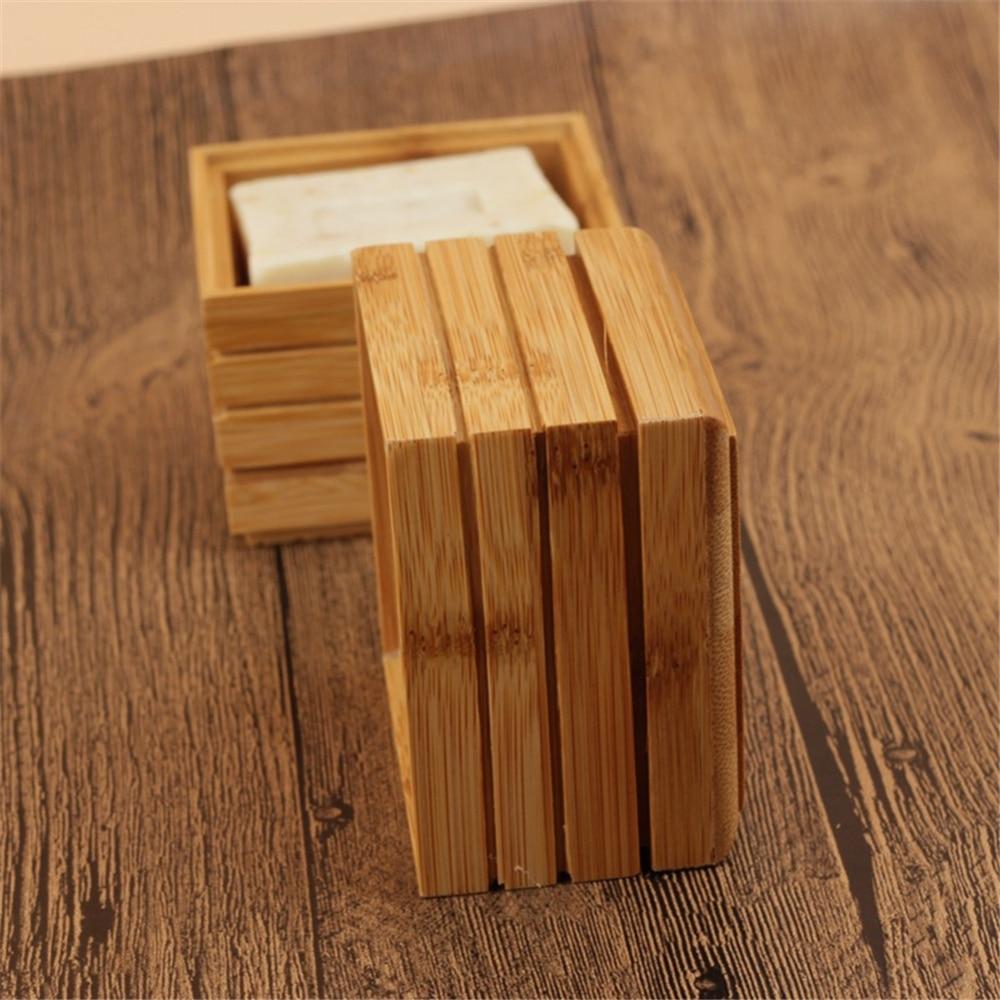 Портативный Бамбуковый мыльница креативный простой ручной дренаж для мыла Коробка для мыла Ванная комната мыльница деревянный держатель для мыла