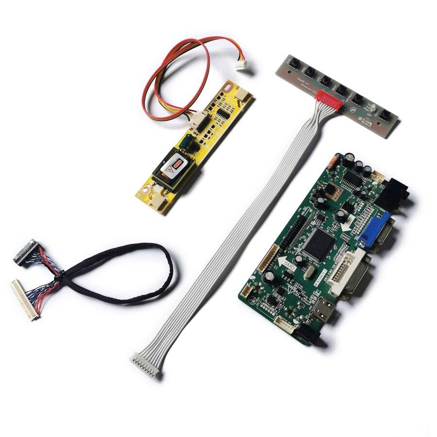 مجموعة تحكم الشاشة 2CCFL 1280*800 M.NT68676 LVDS ، تناسب TX39D80VC1GAA/QD15TL08/LQ154K1LA5E/LP154WX3 matrix VGA DVI 30 Pin