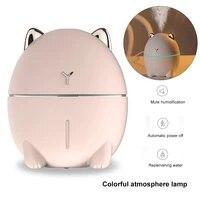 Humidificateur dair USB silencieux a lumiere LED pour bureau a domicile mini diffuseur dhuiles essentielles a lampe  atomiseur  200 ml