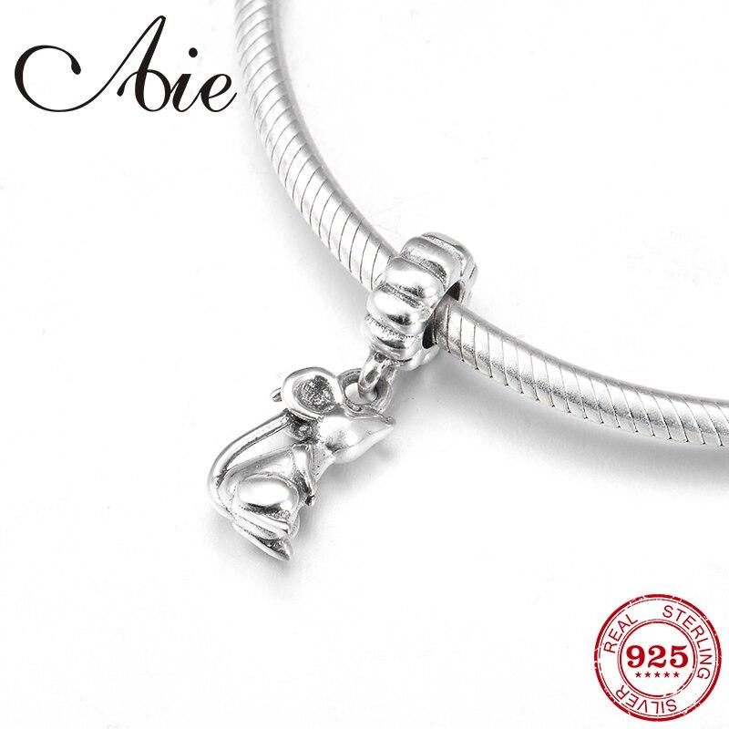 Nouveau 925 argent Sterling bricolage cadeau 12 chinois zodiaque Rat fine pendentif perles ajustement Original européen Bracelet à breloques fabrication de bijoux