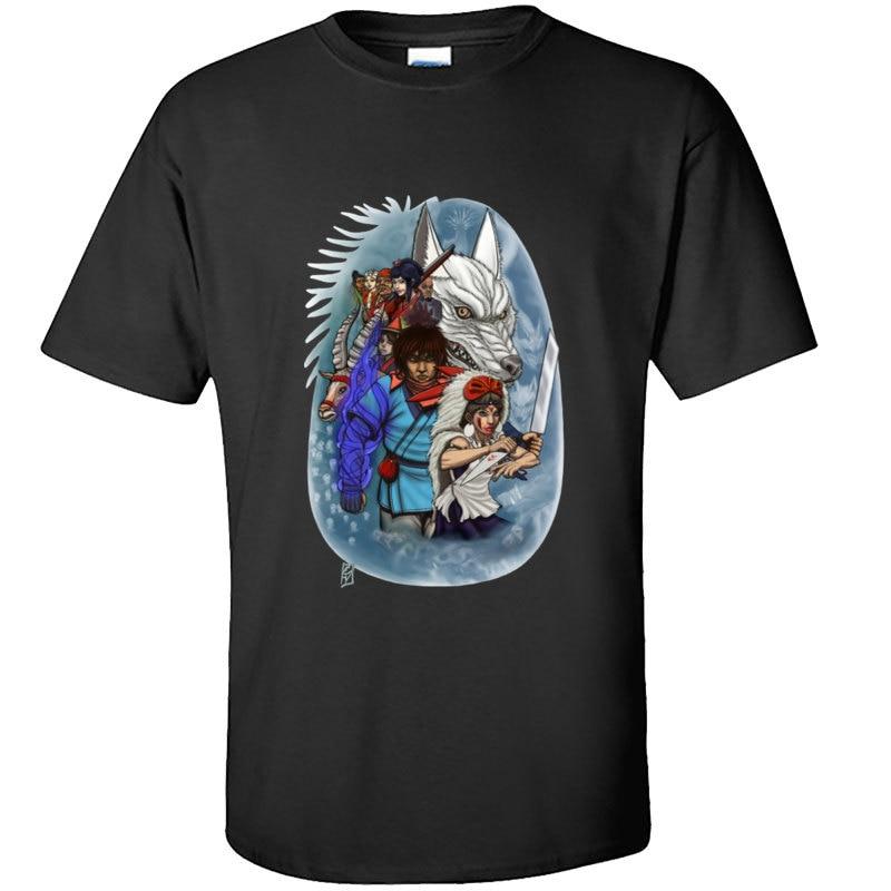 Una historia en el bosque princesa Mononoke Anime o-cuello camisetas Kodama 100% algodón estampado camisetas Slim Fit Mens Deadlift camiseta japonesa