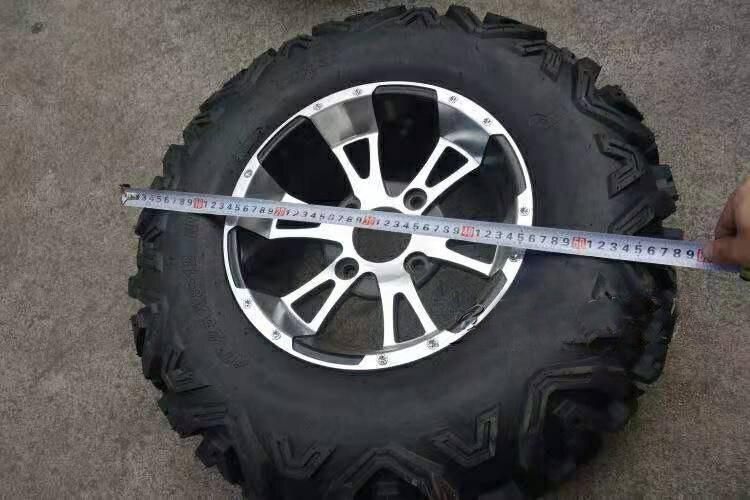 GO KART KARTING ATV UTV Buggy 25X10-12 Inch Wheel Tubeless Tyre Tire With Aluminum Alloy Hub enlarge