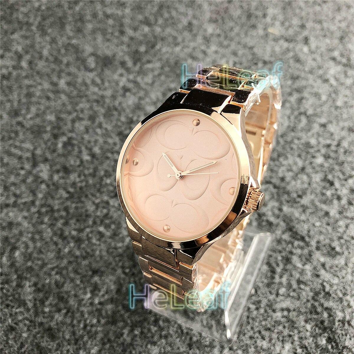 Montre de marque de luxe pour hommes femmes   Montre à Quartz, en acier, argent, or, cadeau idéal