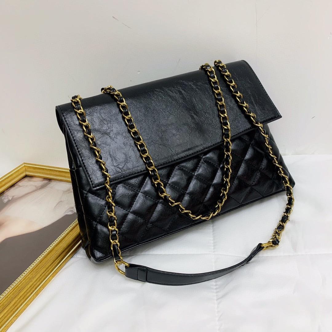 diamond shoulder bag chain shopping bag retro large capacity messenger bag portable female bag XB1069