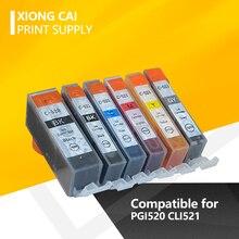 6 Pièces PGI520 PGI-520 CLI-521 Compatible Cartouche Dencre pour Canon PIXMA IP3600 IP4600 IP4700 MX860 MX870 MP540 PGI520 CLI521