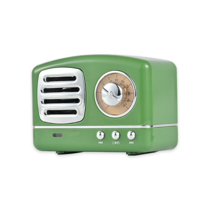 Portable Bluetooth Speaker Retro Mini Portable Wireless Bluetooth Speaker Radio USB/TF Card Music Player HIFI Subwoofer Speaker enlarge