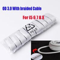 100 шт./лот для х XR 11 Pro Max XS мобильный телефон Зарядное устройство 8 Pin USB Дата-кабель для зарядного устройства для телефона iPhone 6, 6s, 7, 8, белый шну...