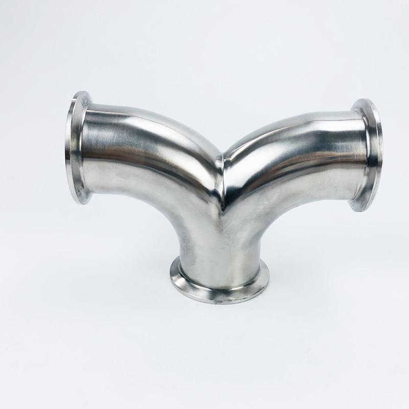 أنابيب صحية من النوع Y ، 3 اتجاهات ، مقاس 2 بوصة (51 مللي متر) OD64 ، فولاذ مقاوم للصدأ 304 ، توصيل مجاني