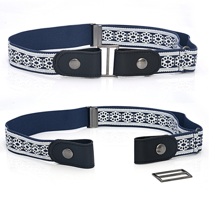 Buckle-free Elastic Invisible Belt for Jeans Genuine Leather Belt without Buckle Easy Belts Women Me