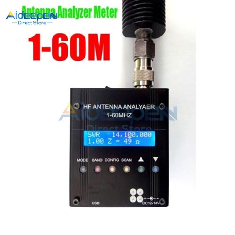 1-60 متر MR300 هوائي قصير النطاق الرقمي محلل متر فاحص لهام راديو عالية الدقة متر هوائي محلل فاحص