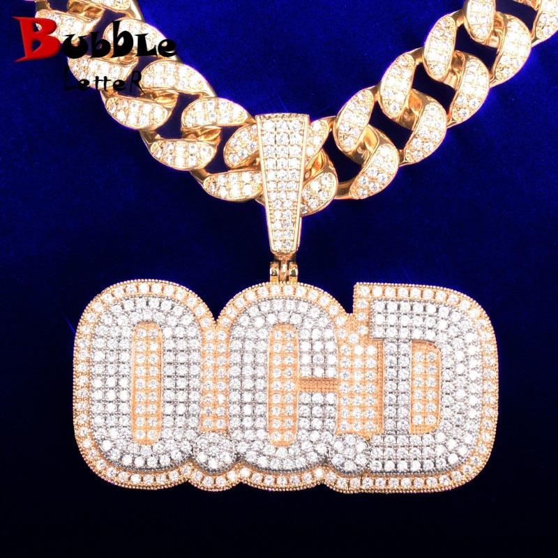 Big Size Custom Name Medal Pendants Rapper Style Men's Necklaces Chain Make Any Letter/Number/Symbol/Color